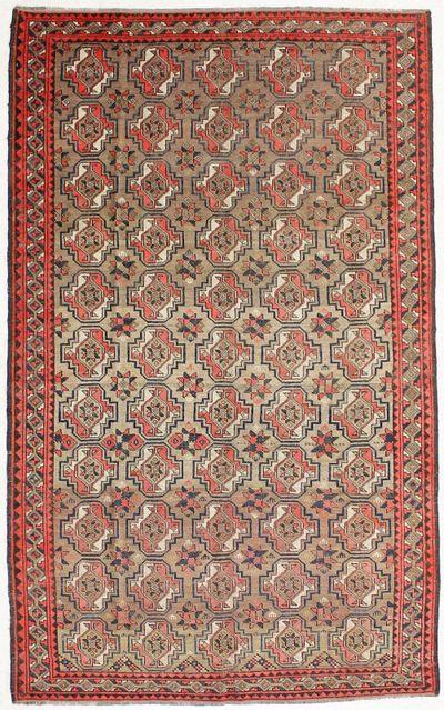 Light Brown Beluch Rug #2065 • 5′1″ x 8′5″ • 100% Wool