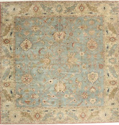 Light Blue Karaman Rug #2026 • 10′6″ x 10′8″ • 100% Wool