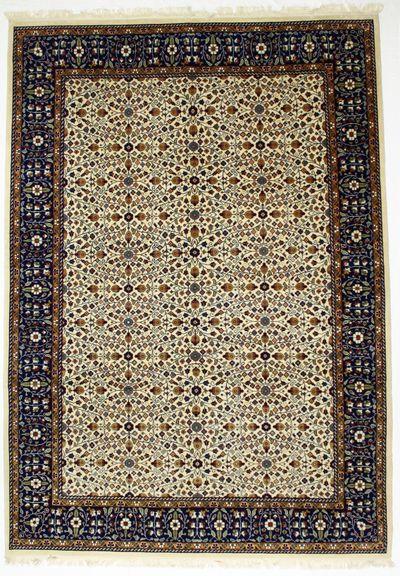 White Kayseri Rug #8722 • 8′3″ x 11′8″ • Wool on Cotton