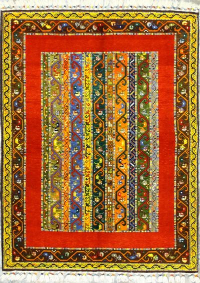 Multicolor Shall Rug #8396 • 4′11″ x 6′6″ • Wool on Cotton