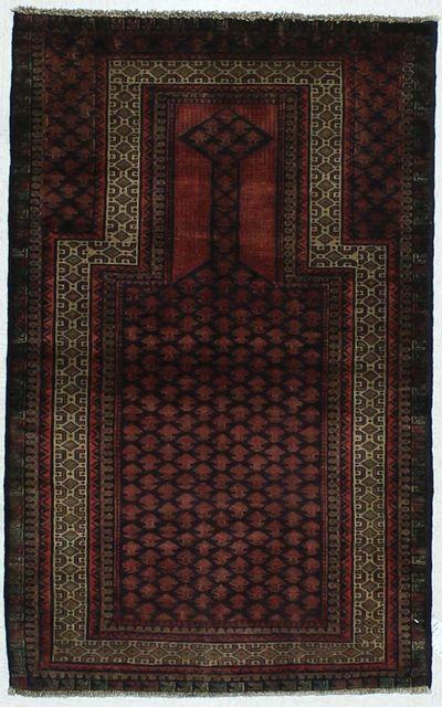 Red Beluch Rug #436 • 2′10″ x 4′7″ • 100% Wool