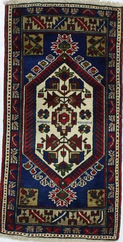 Red Konya Rug #895 • 2′0″ x 3′11″ • 100% Wool