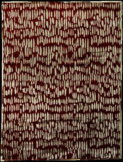 BURGUNDY Modern Rug #7758 • 8′0″ x 10′0″ • Wool on Silk
