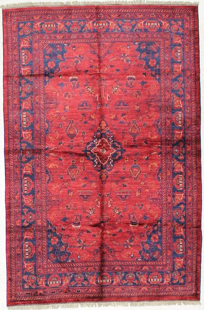 Red Bilcik Rug #1657 • 4′6″ x 6′10″ • 100% Wool