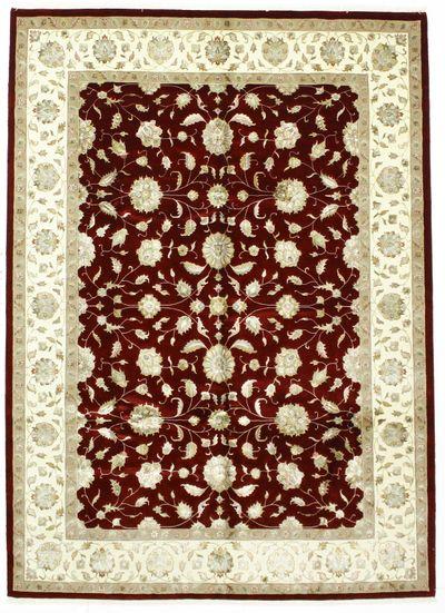 Red Ushak Rug #1548 • 7′2″ x 9′10″ • Wool on Cotton