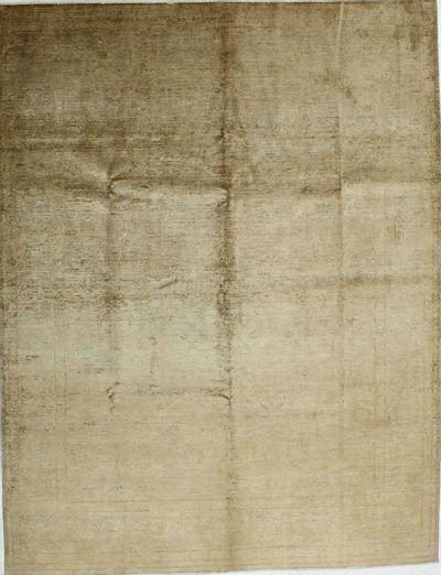 Light Brown Contemporary Rug #1268 • 6′10″ x 10′2″ • 100% Silk