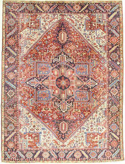 Red Heriz Rug #2044 • 9′2″ x 12′4″ • 100% Wool