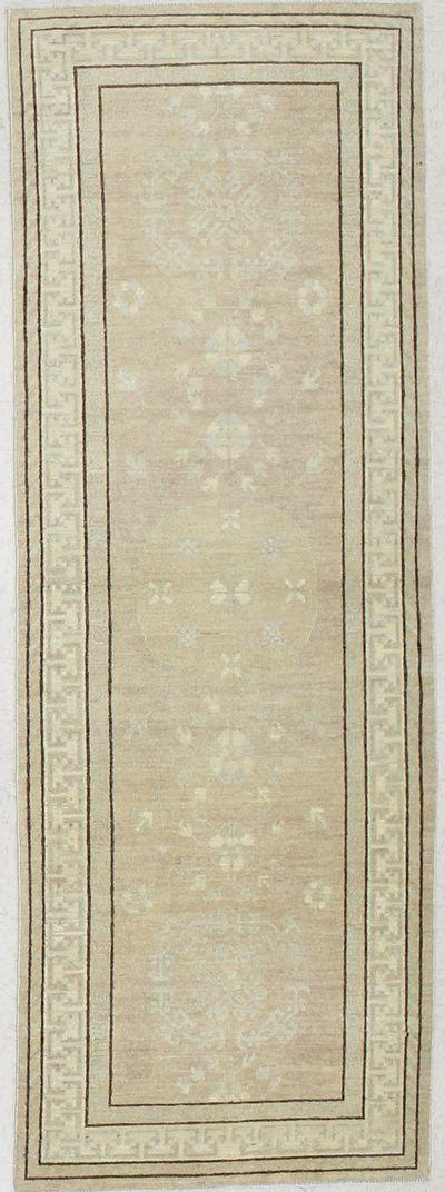 Ivory Kothan Rug #1691 • 3′5″ x 9′6″ • 100% Wool