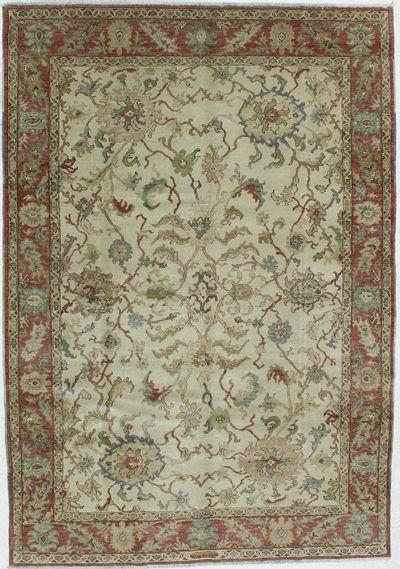 Ivory Karaman Rug #606 • 6′3″ x 9′0″ • 100% Wool