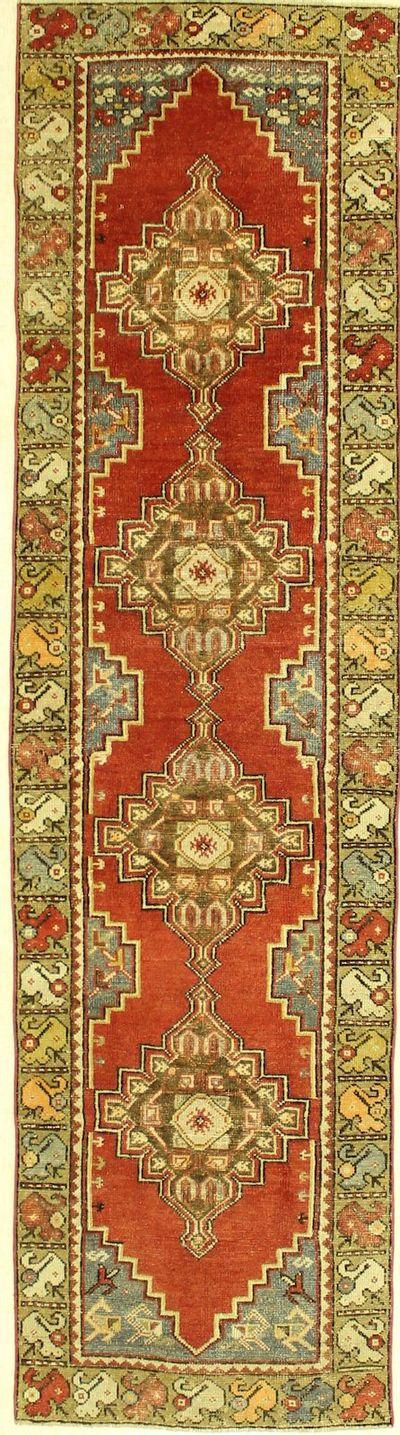Red Konya Rug #1310 • 2′9″ x 10′3″ • 100% Wool