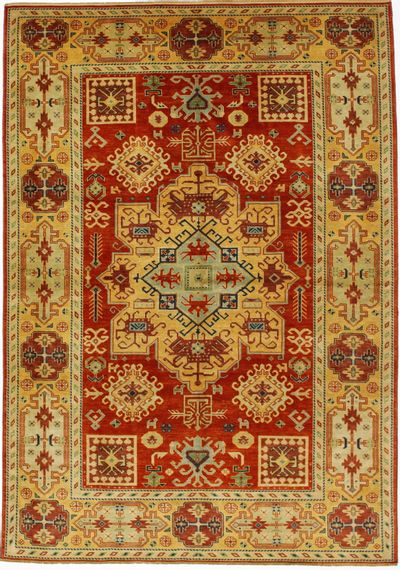 Red Kazak Rug #1554 • 6′3″ x 8′10″ • Wool on Cotton