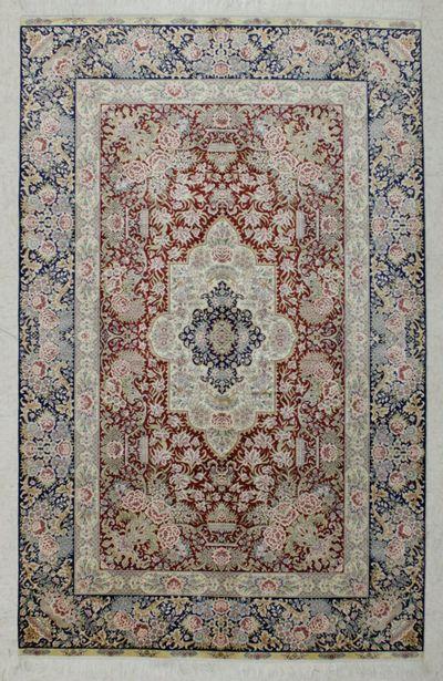 Red Cezaevi Rug #7839 • 5′0″ x 8′0″ • 100% Silk