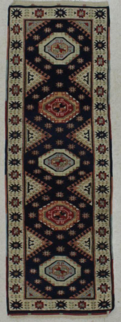 NAVY Konya Rug #8539 • 2′2″ x 6′5″ • 100% Wool