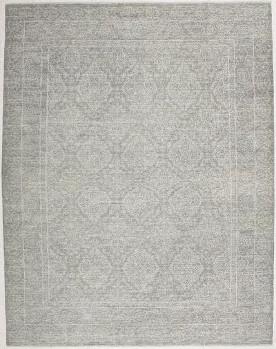 Gray Ushak Rug #2796 • 9′0″ x 11′5″ • 100% Wool