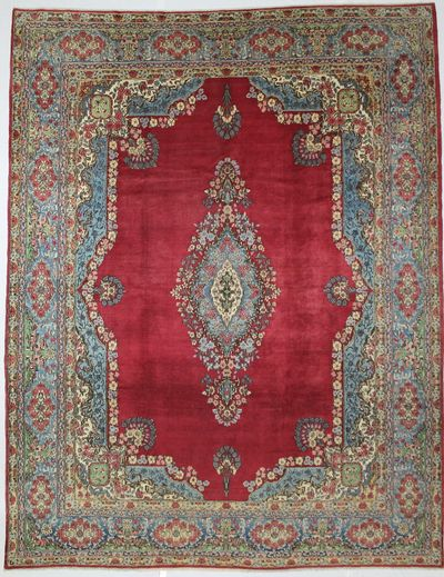 Red Kerman Rug #8659 • 10′1″ x 13′0″ • 100% Wool