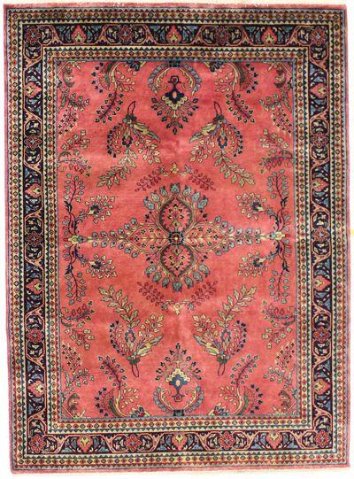 PINK Tabriz Rug #2316 • 5′1″ x 6′11″ • 100% Wool