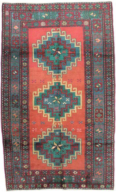 PINK Kazak Rug #2780 • 5′1″ x 8′8″ • 100% Wool