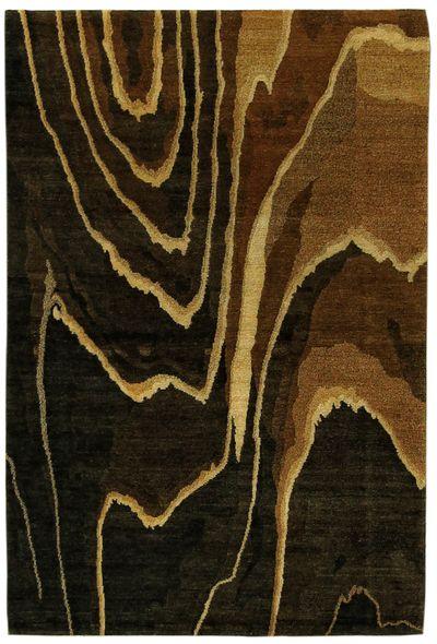 Dark Olive Green Modern Rug #7763 • 4′0″ x 6′0″ • 100% Wool