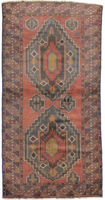 Brown Beluch Rug #1638 • 3′1″ x 6′3″ • 100% Wool
