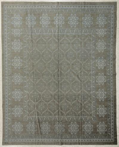 Dark Olive Green Ariana Rug #7718 • 8′8″ x 11′2″ • 100% Wool