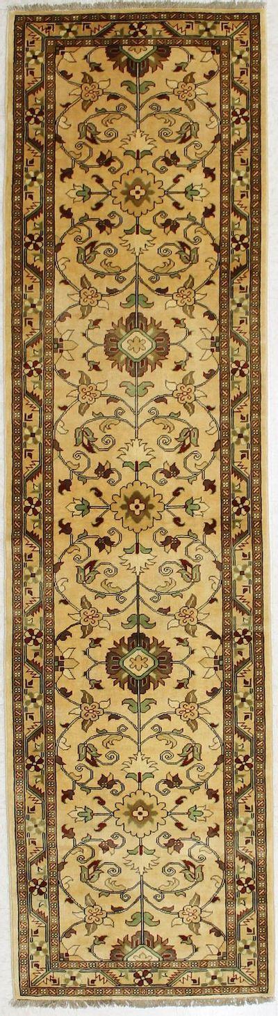 beige Ushak Rug #2839 • 2′8″ x 9′11″ • 100% Wool