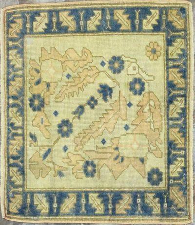 Ivory Konya Rug #8117 • 2′2″ x 2′8″ • 100% Wool