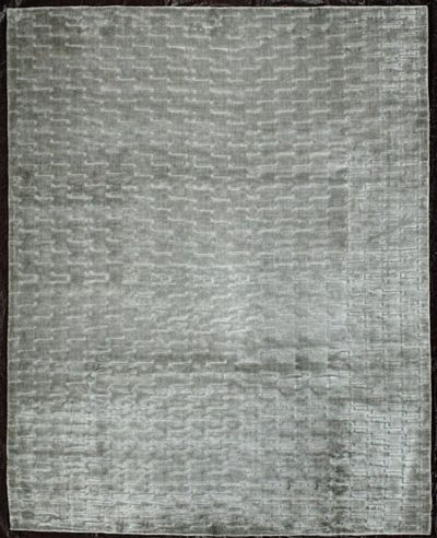 Ivory Modern Rug #8100 • 8′0″ x 10′0″ • Wool on Silk