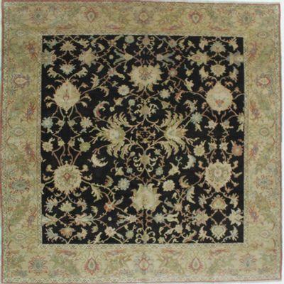Black Ushak Rug #673 • 10′2″ x 10′2″ • Wool on Cotton