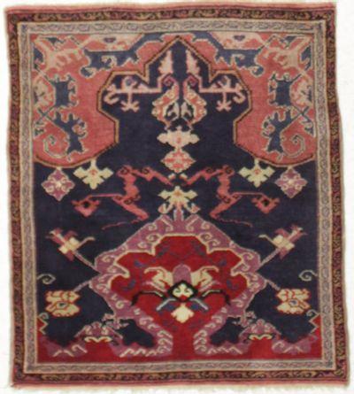 NAVY Anatolia Rug #8547 • 3′6″ x 4′0″ • 100% Wool