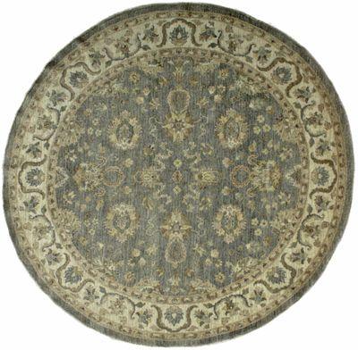 Gray Ushak Rug #8153 • 8′0″ x 8′0″ • 100% Wool