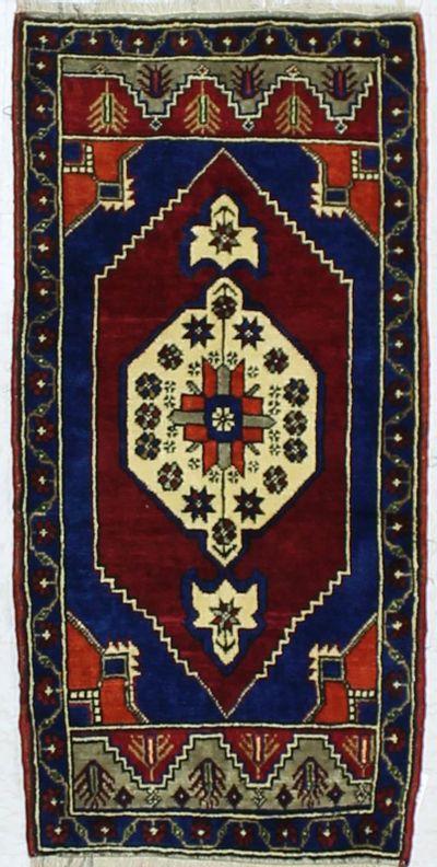 Red Konya Rug #894 • 2′0″ x 3′11″ • 100% Wool