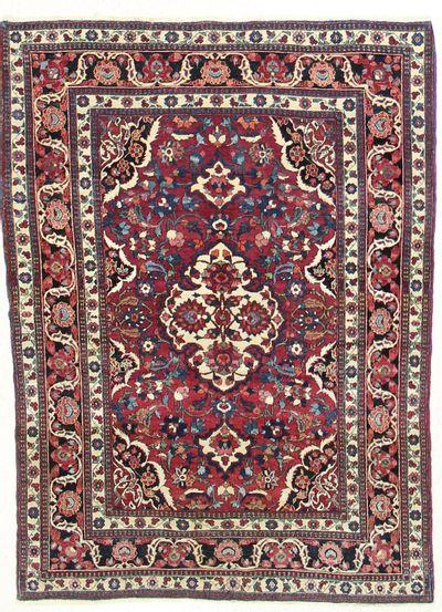 BURGUNDY Tabriz Rug #7316 • 4′10″ x 6′11″ • 100% Wool