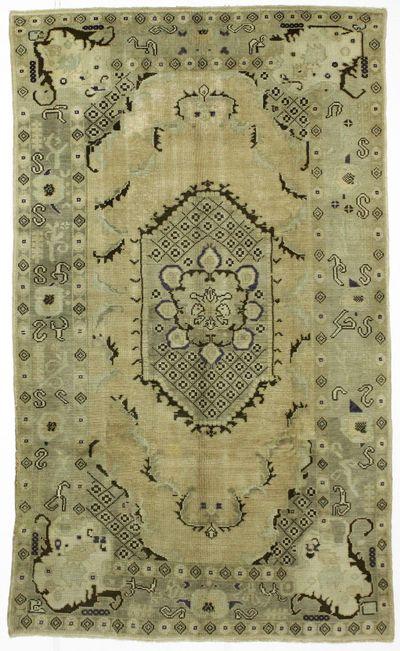 Ivory Konya Rug #29 • 5′9″ x 9′9″ • 100% Wool