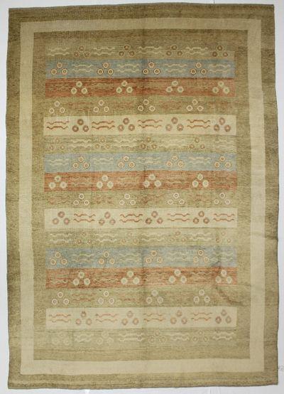 Gold Ushak Rug #1566 • 9′8″ x 13′7″ • 100% Wool