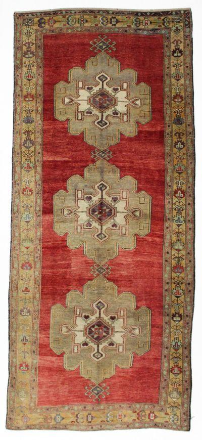 Rust Konya Rug #43 • 5′0″ x 11′4″ • 100% Wool