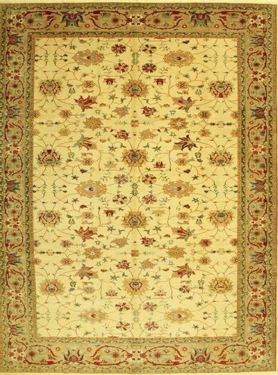 Ivory Sivas Rug #621 • 10′5″ x 13′7″ • 100% Wool