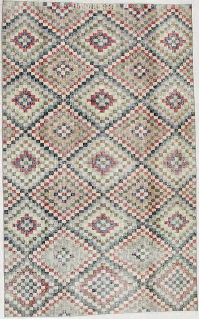 Multicolor Modern Rug #1954 • 5′8″ x 9′3″ • 100% Wool