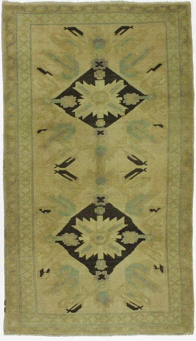 Black Konya Rug #180 • 4′8″ x 8′3″ • 100% Wool