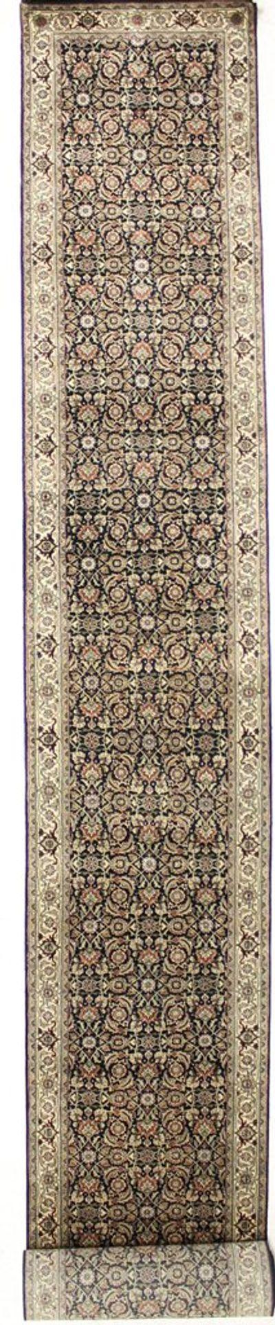Black HERATI Rug #7533 • 2′7″ x 23′9″ • Wool on Cotton