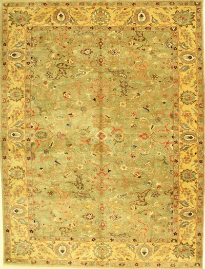 Light Gray Sivas Rug #574 • 9′5″ x 12′3″ • 100% Wool