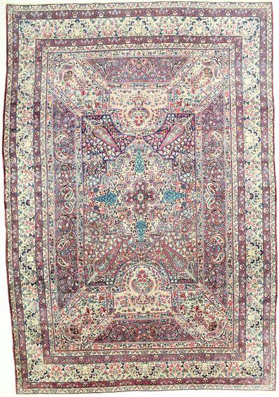 Multicolor Kerman Rug #1725 • 9′3″ x 13′5″ • 100% Wool
