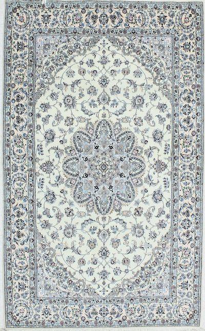 Blue Nain Rug #1157 • 4′11″ x 8′2″ • Wool on Cotton