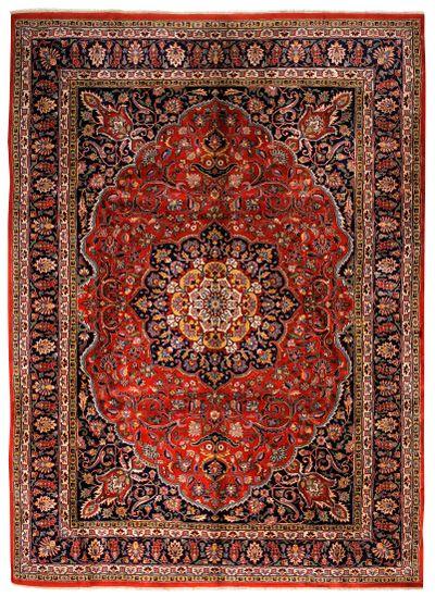 Rust Kashan Rug #804 • 9′11″ x 13′8″ • 100% Wool