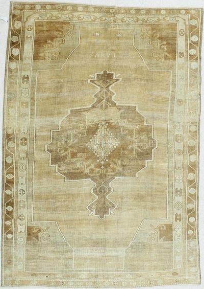 Light Brown Konya Rug #85 • 6′9″ x 9′8″ • 100% Wool