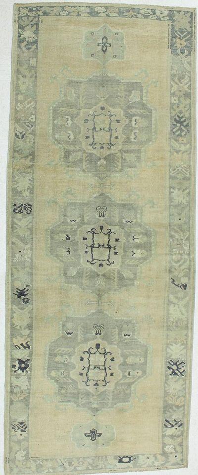 Ivory Konya Rug #983 • 4′11″ x 12′6″ • 100% Wool