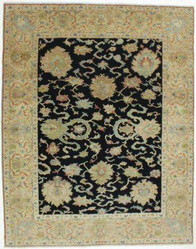 Black Karaman Rug #616 • 8′5″ x 10′6″ • 100% Wool