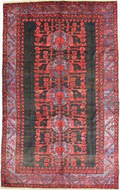 BURGUNDY Kula Rug #1499 • 5′10″ x 9′6″ • 100% Wool