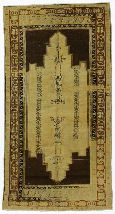 Ivory Konya Rug #1635 • 4′2″ x 8′0″ • 100% Wool