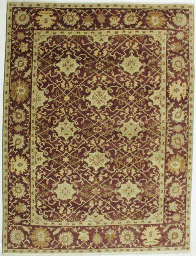 BURGUNDY Gordes Rug #533 • 9′1″ x 12′0″ • 100% Wool