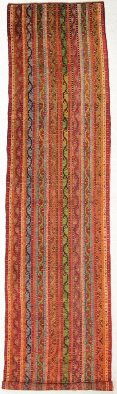 Multicolor Shall Rug #8584 • 3′11″ x 15′8″ • 100% Wool